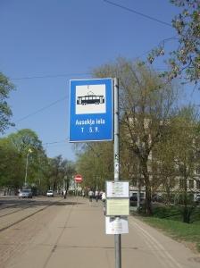 Trolleybushalte in Riga (foto: René Hoeflaak)
