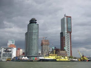 Rotterdam, Wilhelminapier afgelopen dag (foto: René Hoeflaak)