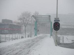 De Nassaubrug in Rotterdam vanmiddag (foto: René Hoeflaak)