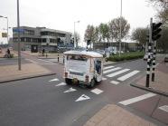 Rotterdam, vanmiddag: De FFF rijdt de Brede Hilledijk op (foto: René Hoeflaak)
