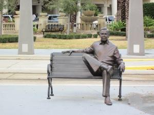 USA, Tampa, Florida; Standbeeld Dick A. Greco op het Dick A. Greco Plaza (foto: René Hoeflaak)