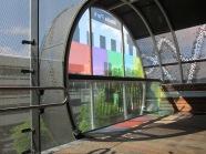 Hilversum, Media Park; Testbeeld aan het einde van de Kijkbuis (foto: René Hoeflaak)
