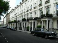 Londen, zaterdag 21 juli 2012; Chester Square, de duurste straat van Groot-Brittanië (foto: René Hoeflaak)