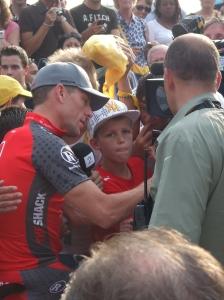 Rotterdam, 1 juli 2010: Lance Armstrong voorafgaand aan de ploegenpresentatie van de Tour de France (foto: René Hoeflaak)