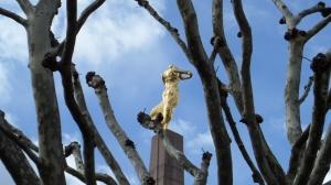 19 april 2013: Luxemburg Stad; Gëlle Fra, monument uit 1923 ter ere van de oorlogsslachtoffers van de eerste wereldoorlog (foto: René Hoeflaak)