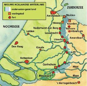 Nieuwe Hollandse Waterlinie (bron:www.mediabank.omgevingseducatie.nl/)