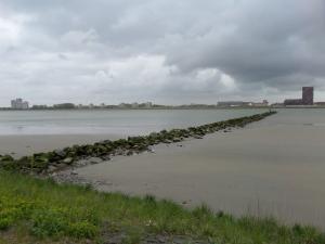 13 mei 2013,  Rozenburg: Zicht op de Nieuwe Waterweg (foto: René Hoeflaak)