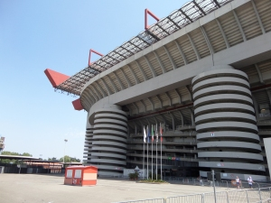 Milaan, juli 2013: San Siro Stadion (foto: René Hoeflaak)