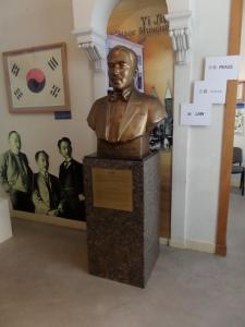 Borstbeeld Yi Jun in het Yi Jun Peace Museum (foto: René Hoeflaak)
