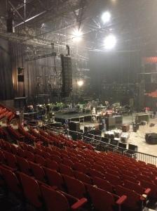 Brussel, 23 november 2013, Vorst Nationaal. Podium afbouwen na optreden Simple Minds. Op naar Parijs. (foto: René Hoeflaak)
