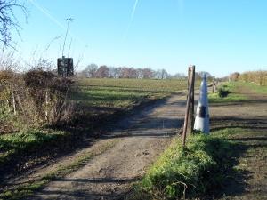 10 december 2013, Grens België-Nederland: Grenspaal 29 uit 1843 (foto: René Hoeflaak)