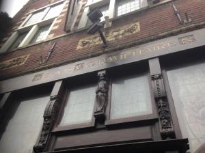 Haarlem, voormalig prijswinnende gevel aan de Jansweg 34 (IPhone foto: René Hoeflaak)