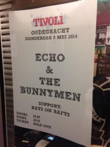 8 mei 2014: Echo & The Bunnymen  in Utrecht. Eén van de laatste concerten in het 'oude' Tivoli aan de Oude Gracht
