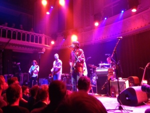 Amsterdam, Paradiso, 15 mei 2014: Drive By Truckers (Iphone foto: René Hoeflaak)