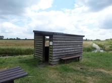 1 juli 2014: Vogelkijkhut in natuurgebied de Zouweboezem bij Meerkerk (foto: René Hoeflaak)