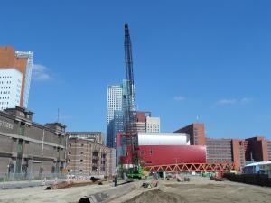 Rotterdam, 27 augustus 2014: Bouwplaats woontorens Boston-New York op de Wilhelminapier (foto: René Hoeflaak)