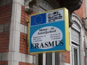 Leuven: Erasmus laat overal zijn sporen na. (foto: René Hoeflaak)