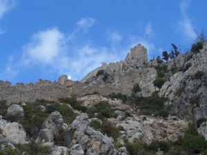 Noord-Cyprus: Duizend jaar oud Byzantijns kasteel van St. Hilarion (foto: René Hoeflaak)
