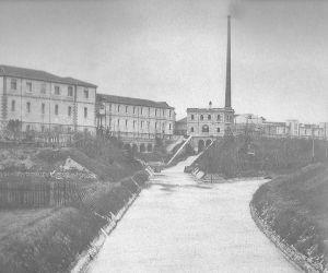 Aanleg Camuzzoni kanaal rond 1900 (bron: http://it.wikipedia.org/)