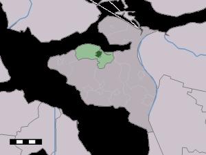 Kaart van Tholen met in het groen Sint-Annaland (kaartje: www.nl.wikipedia.org)