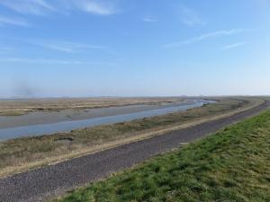 Sint-Annaland, 13 maart 2015: dijk langs de Krabbenkreek ( foto: René Hoeflaak)