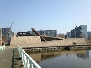 Rotterdam, 9 april 2015: monument Vierkant Eiland aan de Prinsenlaan   (foto: René Hoeflaak)