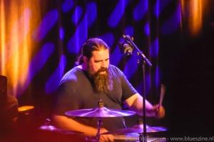 Robben Ford drummer Wes Liitle. Hij drumde met vele bekende artiesten en onder meer op het inauguratiefeest van Barack Obama   (foto: Ben Willemsen)