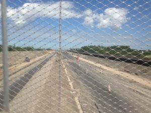 22 juli 2015: De aanleg van de A4 snelweg bij Schipluiden. De opening van de A4 staat gepland op eind 2015. (foto: René Hoeflaak)