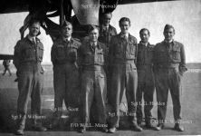 De omgekomen bemanningsleden van de neergestorte Short Stirling BK 710 (bron foto: http://www.aircrewremembered.com/