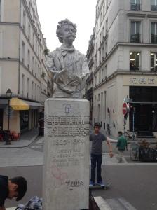Parijs, Frankrijk, 25 september 2015: borstbeeld Johann Strauss (foto: René Hoeflaak)