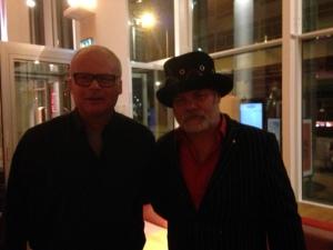 Rotterdam, 3 maart 2016: Fred Eaglesmith en ondergetekende (foto: René Hoeflaak)