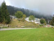 Rigi Kaltbad, Zwitserland, 15 september 2016: zicht op Hotel Rigi Kaltbad en de voormalige plek van het afgebrande Grand Hotel (foto: René Hoeflaak)