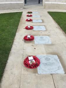 Manchester, gedenkstenen van gesneuvelde stadsgenoten (foto: René Hoeflaak)