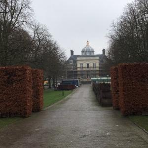 23 december 2016: Den Haag, Paleis Huys ten Bosch, het voormalige woonpaleis van de toenamlige Koningin (nu) Prinses Beatrix. Nu in verbouwing. Vanaf 2019 gereed als woonpaleis van Koning Willem Alexander (foto: René Hoeflaak)